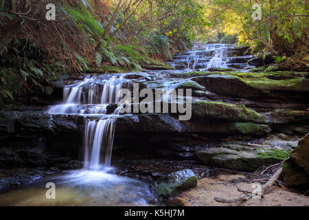 Leura Cascades, Blue Mountains National Park - Stock Photo