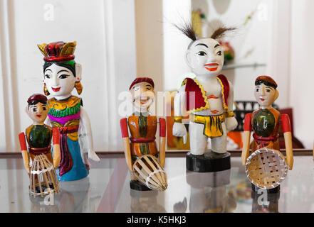 Thăng Long water theatrical wooden puppets, Hanoi, Vietnam - Stock Photo