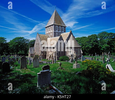 Channel Islands. Alderney. St. Anne's Church. - Stock Photo