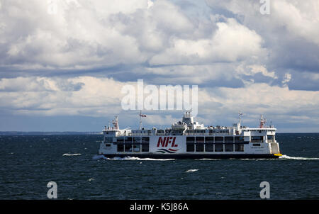 The MV Holiday Island of the Northumberland Ferries Limited is seen crossing the Northumberland Straight between - Stock Photo