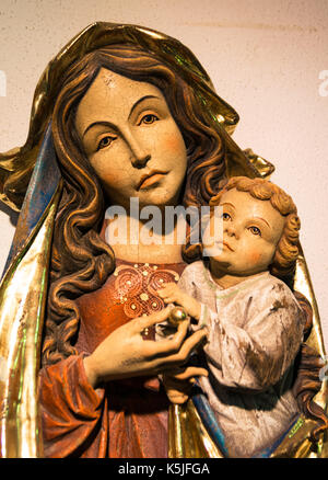 Lutago, Italy - December 23, 2016: Maranatha Museum, the largest crib exhibition in Europe. Are exposed various - Stock Photo