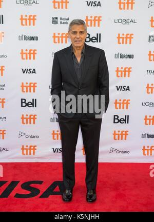 Toronto, Canada. 9th Sep, 2017. George Clooney attends the North American premiere of the film 'Suburbicon' at Princess - Stock Photo