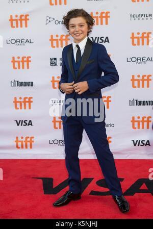 Toronto, Canada. 9th Sep, 2017. Noah Jupe attends the North American premiere of the film 'Suburbicon' at Princess - Stock Photo