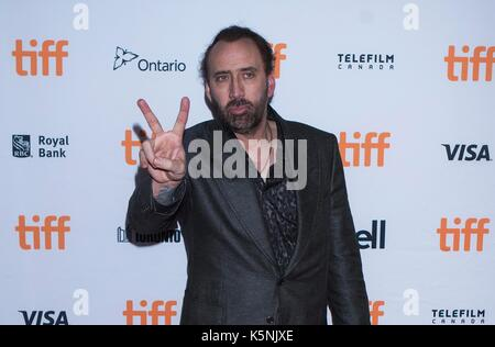Toronto, Canada. 9th Sep, 2017. Actor Nicolas Cage attends the world premiere of the film 'Mom and Dad' at Ryerson - Stock Photo