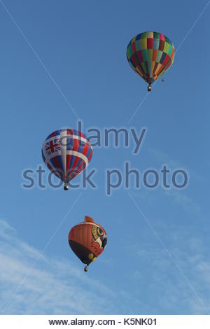 London, UK. 10th September, 2017. The RICOH Lord Mayor's Balloon Regatta. Over 30 hot air ballons took off from - Stock Photo
