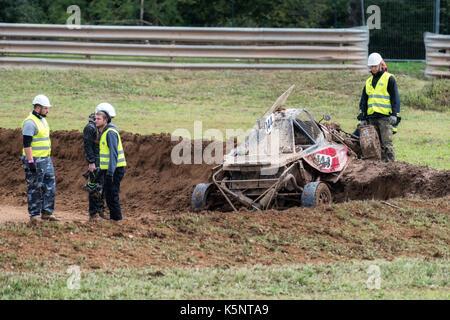 Maggiora, Italy. 10th September, 2017.  FIA European Autocross Championship and Italian Championship AX Credit: - Stock Photo