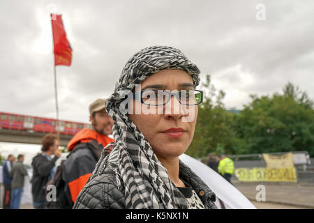 London, UK. 10th September, 2017. Kurdish community and supported demonstration at Excel London arms sales protest - Stock Photo