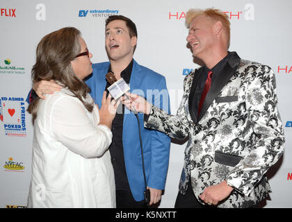Randy Rainbow,Rosie O'Donnell Chris Valentine attends Ed Asner Friends Celebrity Poker Tournament Benefiting Autism - Stock Photo
