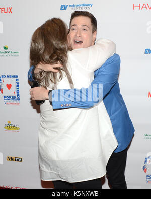 Randy Rainbow Rosie O'Donnell attends Ed Asner Friends Celebrity Poker Tournament Benefiting Autism Society Hayworth - Stock Photo