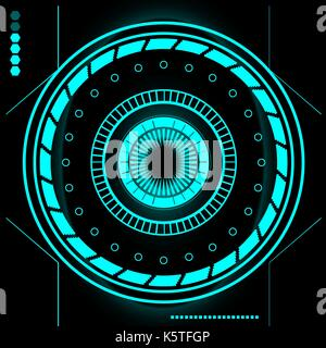 Futuristic Sci Fi Modern User Interface Set. Abstract HUD - Stock Photo