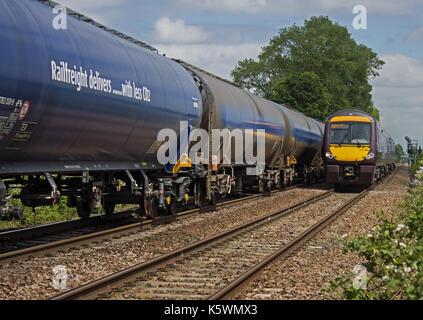Passing trains - Stock Photo