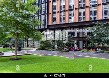 London offices of Google at Pancras Square, King's Cross, London, UK - Stock Photo