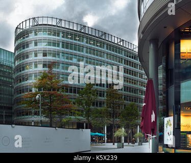 MANCHESTER-UNITED KINGDOM - SEPTEMBER 05:  Media City UK is on the banks of the Manchester Ship Canal in Salford - Stock Photo