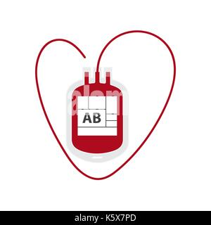 Blood Bag isolated on white,vector - Stock Photo