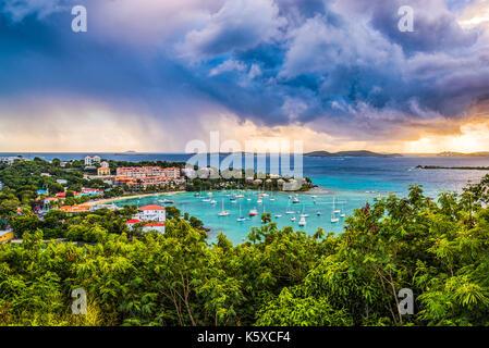 Cruz Bay, St. John, United States Virgin Islands. - Stock Photo
