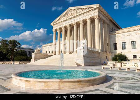 United States Supreme Court Building at sunset in Washington DC, USA. - Stock Photo