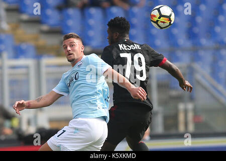 Italy, Rome, September 10, 2017: Milinkovic during the football  match Serie A Italian league between Lazio vs Milan  in Stadio Olimpico  in Rome on 10 September 2017.