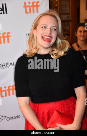 Toronto, Ontario, Canada. 10th Sep, 2017. ELISABETH MOSS attends 'The Square' premiere during the 2017 Toronto International - Stock Photo