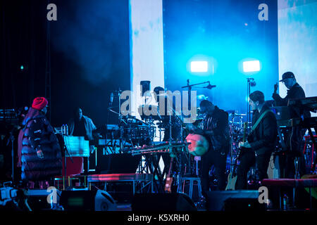 Toronto, Canada. 10th September 2017. Lauryn Hill performs at the Budweiser Stage in Toronto, on her co-headling - Stock Photo