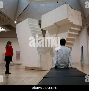London, UK. 11th Sept, 2017. Members of staff looks at 'Untitled (Stairs)' 2001. One of the leading artists of her - Stock Photo