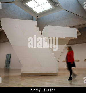 London, UK. 11th Sept, 2017. A member of staff looks at 'Untitled (Stairs)' 2001. One of the leading artists of - Stock Photo