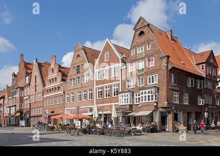 square Am Sande, Lueneburg, Lower Saxony, Germany - Stock Photo
