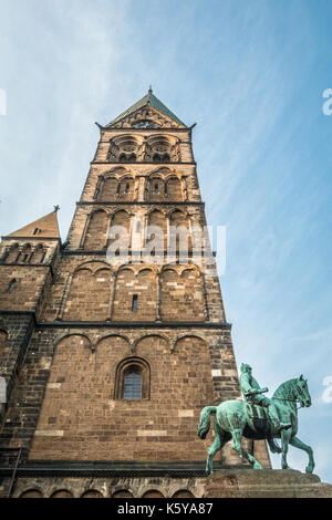 Tower of Bremen Cathedral in Germany - Stock Photo