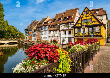 Old town of Colmar, Alsace, France on a sunny day - Stock Photo