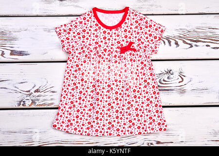 d313c447b Toddler girl cute printed top. Baby-girl red dress with a pattern of ...