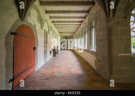 Schaffhausen, JUL 15: Interior view of the Former Minster St. Georg. The beautiful Stein am Rhein is a historic - Stock Photo