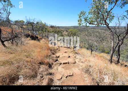 Walking track leading to the gorge in Porcupine Gorge National Park, Queensland, QLD, Australia - Stock Photo
