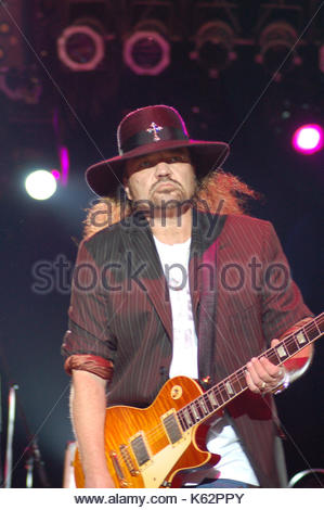 Gary Rossington of the Lynyrd Skynyrd Band performs at the ...