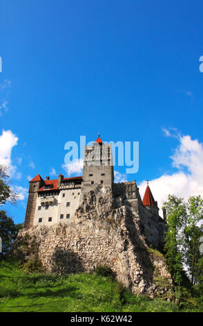 Medieval Castle of Bran (Dracula's castle), Brasov, Transylvania, Romania - Stock Photo