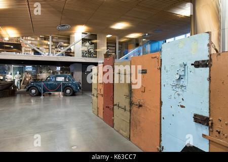 Museum of Occupations with prison doors, Tallinn, Estonia, Europe - Stock Photo
