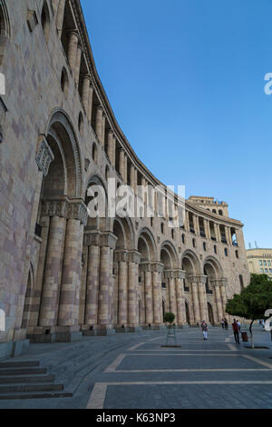 Buildings on Republic Square in Yerevan, Armenia. - Stock Photo