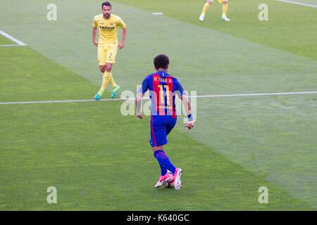 Neymar Jr in posession of ball - 6/5/17 Barcelona v Villarreal football league match at the Camp Nou stadium, Barcelona. - Stock Photo