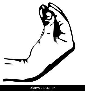 jewish man. Hand gesture, pinch up. Vector illustration. - Stock Photo
