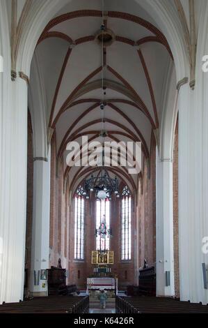 Gothic kolegiata Krzyza Swietego i Sw Bartlomieja (Collegiate Church of the Holy Cross and St. Bartholomew) on Ostrow - Stock Photo
