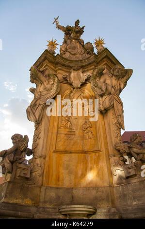 The biggest in the world Baroque pomnik Sw. Jana Nepomucena (Monument of Saint John of Nepomuk or John Nepomucene) - Stock Photo