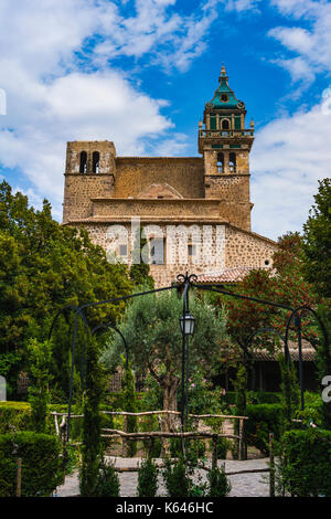 images from the city of Valldemossa in Palma de Mallorca. Spain (28-08-2017) - Stock Photo