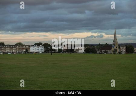 London, UK. 11th Sep, 2017. UK Weather. Dark rain clouds over Blackheath, South-East London. Credit: Claire Doherty - Stock Photo