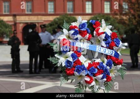 Washington, DC, USA. 11th Sep, 2017. Law enforcement officers gather at the National Law Enforcement Officers Memorial - Stock Photo