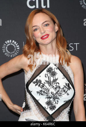 Beverly Hills, Ca. 11th Sep, 2017. Heather Graham, at 2017 PALEYFEST FALL TV PREVIEW: LAW & ORDER TRUE CRIME: THE - Stock Photo