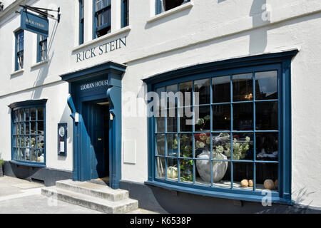 Rick Stein fish and seafood restaurant front elevation & bay windows with entrance in high street Marlborough Wiltshire - Stock Photo