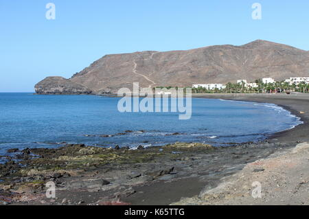 Las Playitas beach in Fuerteventura, Canary Islands, Spain - Stock Photo