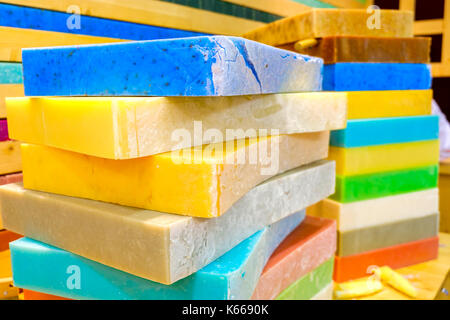 soap bars big blocks colorful - Stock Photo