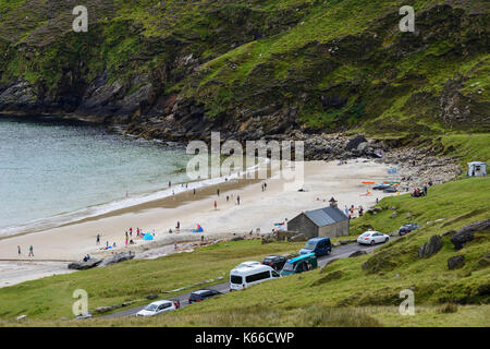 Keem Beach on Achill Island, County Mayo, Republic of Ireland - Stock Photo