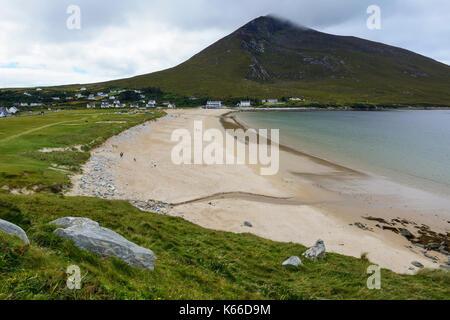 Keel Beach on Achill Island, County Mayo, Republic of Ireland - Stock Photo