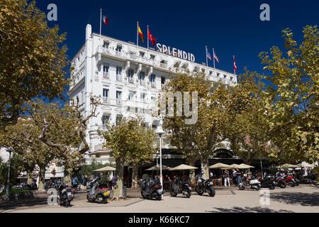 Hôtel Splendid, Cannes, France - Stock Photo