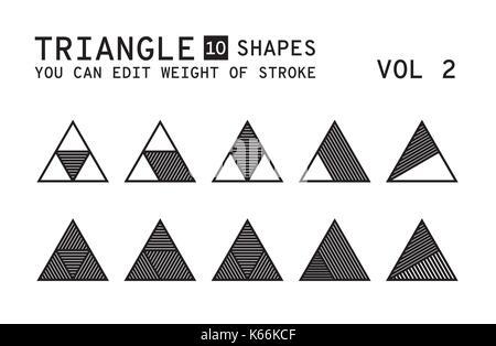 Geometric logo design - Stock Photo